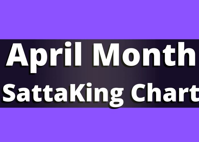 April Month Satta King Chart Record 2020