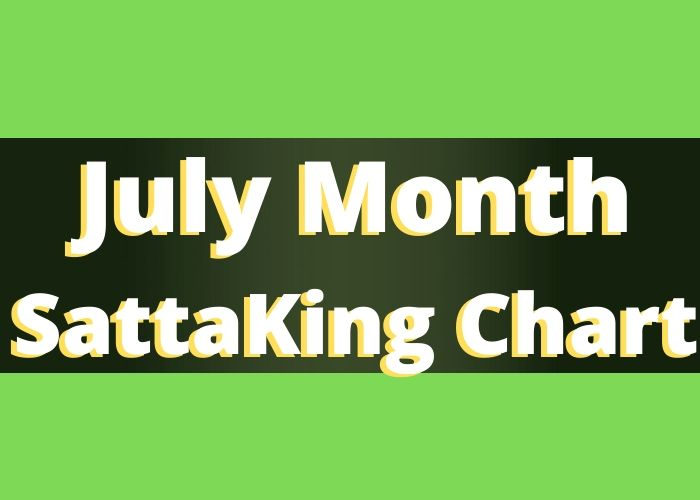 July Month Satta King Chart Record 2020