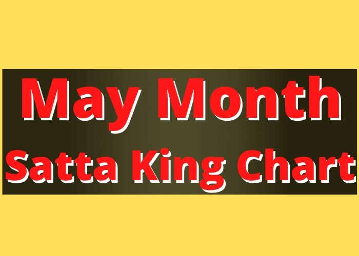 May Month Satta King Chart Record 2020