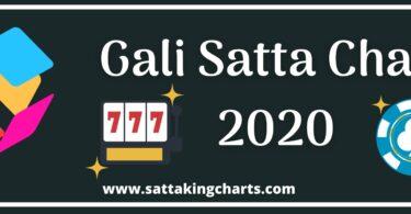Gali Satta Chart 2020