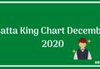 Satta King Chart December 2020